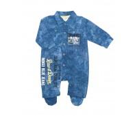 Комбинезон для мальчика под джинсу с принтом 138-82.7а-01