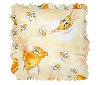 Подушка для новорожденного с рюшей (бязь) 35*35