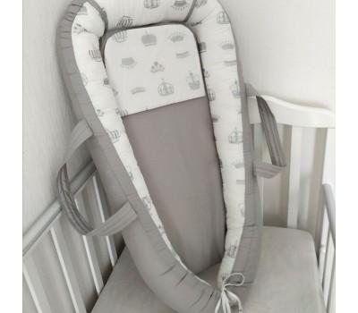 """Кокон-гнездышко для новорожденного """"Короны"""""""