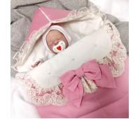 Конверт на выписку утепленный Розовый
