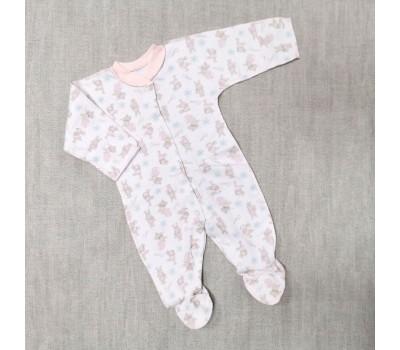 Слип Зайчики Belly для недоношенных детей 8493(роз)