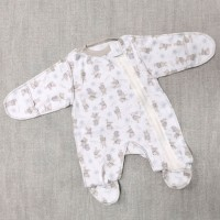 Слип для недоношенных детей Зайцы Belly 8580(беж)