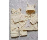 Комплект велюр (куртка+полукомбинезон) утепленный 9341