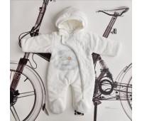 Велюровый комбинезон для новорожденного Малыш и лебедь