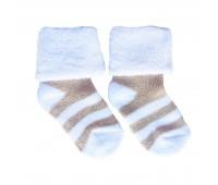 Носочки махровые Бежевая полоска 4-6 см
