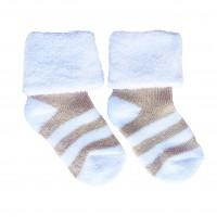 Носочки махровые Бежевая полоска 6-8 см