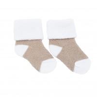 Носочки махровые Бежевый с белым 4-6 см