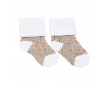 Носочки махровые Бежевый с белым 6-8 см