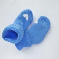 Носочки махровые голубые с сердечком 4-6см
