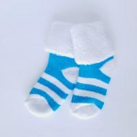 Носочки махровые бирюзовая полоска 4-6 см