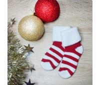 Носочки махровые красная полоска 4-6 см