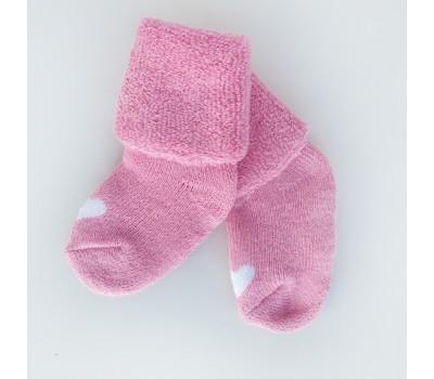 Носочки розовые для недоношенных детей 6-8 см