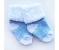 Носочки махровые, голубые 6-8 см