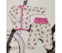 """Комплект для новорожденного """"Мишки роз"""" футер"""