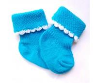 Носочки бирюзовые тонкие 4-6 см