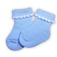 Носки для недоношенных детей тонкие голубые 4-6 см