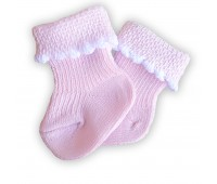 Носочки тонкие розовые 4-6 см