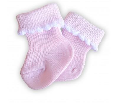 Носочки тонкие розовые 6-8 см