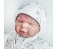 """Шапочка двухслойная для недоношенных детей """"Нежность"""", 34,36 см"""