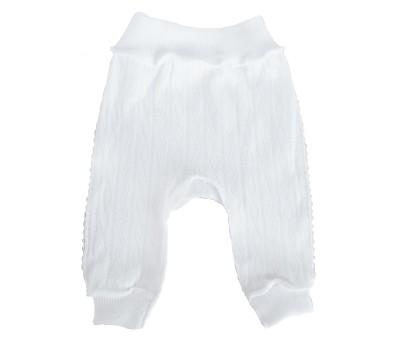 """Штанишки для недоношенных детей """"Ажур"""" белый"""