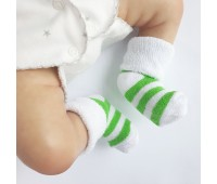 Носочки махровые салатовые 6-8 см