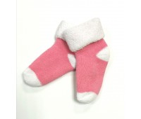 Носочки махровые, розовые 6-8 см