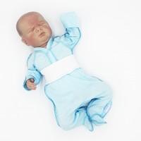 """Ползунки для недоношенных детей однотонные """"Голубой"""""""
