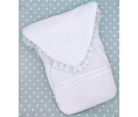 Конверт на синтепоне для недоношенных детей (белый)