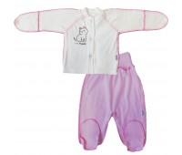Комплект для недоношенных детей Котёнок(кофточка+ползунки)
