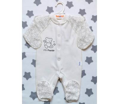 Комбинезон для недоношенных детей Медвежонок(экрю)