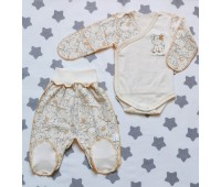 Комплект для недоношенных детей Собачка(экрю)