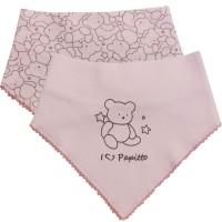Нагрудник для новорожденного Медвежонок (2шт)розовый