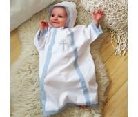 Крестильный набор для мальчика (рубашка крестильная, чепчик)