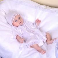 Универсальный набор для крещения (рубашка+пеленка) рост 62-68