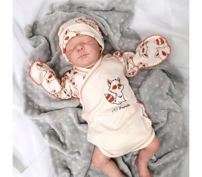 Боди для новорожденного Енот (охра)