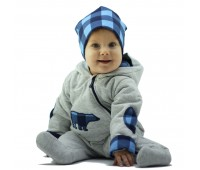 Комбинезон детский с утеплителем, синий