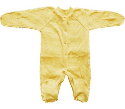 Комбинезон для недоношенных детей Желтый ажур