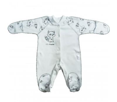 Комбинезон для недоношенных детей Енот (серый)