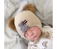 Зимняя шапочка на хлопковой подкладке 36-38р