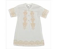 Крестильная рубашка с кружевом 106-575-01