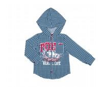 Рубашка для мальчика в клетку 111-611-01м