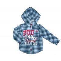 Рубашка для мальчика с капюшоном 111-611-01
