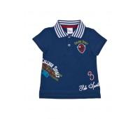 Футболка-поло синяя для мальчика 111-612-01