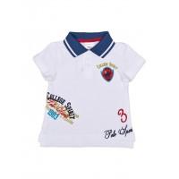 Футболка-поло белая для мальчика 111-612-02