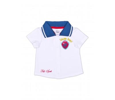 Рубашка белая для мальчика 111-613к-02