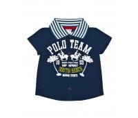 Рубашка-поло для мальчика синяя 111-613к-03