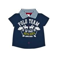 Рубашка для мальчика поло синяя 111-613к-03м