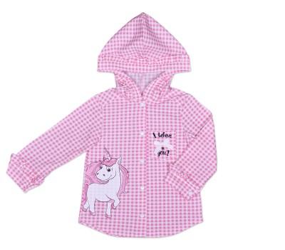 Блузка для девочки с капюшоном 112-611-01м