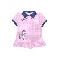 Блузка для девочки в клетку 112-623-01м