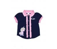Блузка для девочки сине-розовая 112-623-03м